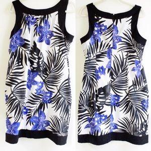 🍁 Sheath dress a/ Luau tropical floral print